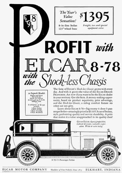 elcar motor co   elkhart buggy co   elkhart carriage